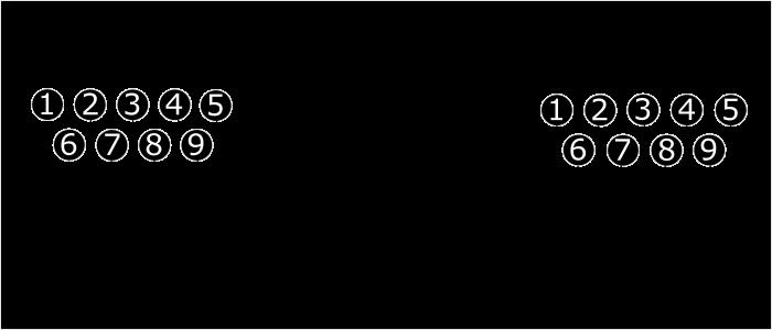 Распиновка полного нульмодемного кабеля RS232
