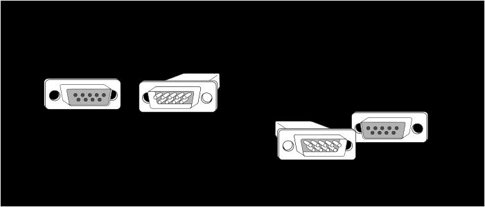 Кабель DCE-DCE RS232
