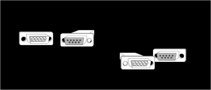 Кабель RS-232 типа DTE-DCE