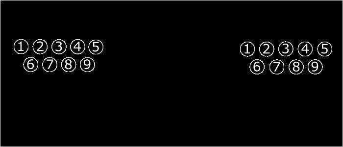 Распиновка нульмодемного пятипроводного кабеля